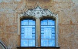 Fragment de la fa?ade dans le style d'Art Nouveau d'un b?timent r?sidentiel photos stock