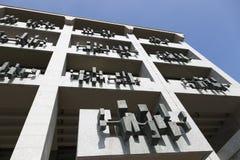 Fragment de la façade de la partie moderne de la ville hôtel de Cologne image libre de droits