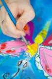 Fragment de la peinture de batik Images libres de droits