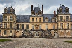 Fragment de la résidence royale à Fontainebleau image stock