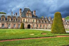 Fragment de la résidence royale à Fontainebleau photographie stock