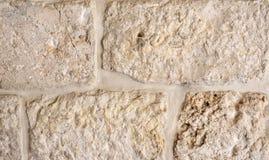 Fragment de la vieille maçonnerie en pierre, un des murs du bâtiment au centre historique de Jérusalem Images stock