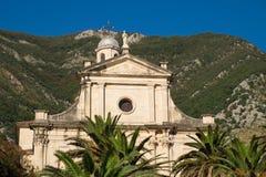 Fragment de naissance de notre église de Madame en ville Prcanj, Monténégro image stock