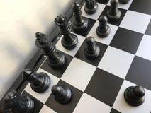 Fragment de partie d'échecs cours d'un gage e2-e4 Photos stock