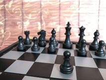 Fragment de partie d'échecs cours d'un gage e2-e4 Image libre de droits