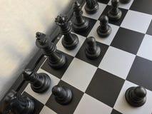Fragment de partie d'échecs cours d'un gage e2-e4 Photo libre de droits