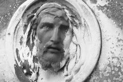 Fragment de statue antique Jesus Christ comme symbole de l'amour, fai Images stock