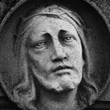 Fragment de statue antique Jesus Christ comme symbole de l'amour, fai Photos libres de droits