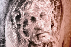 Fragment de statue antique Jesus Christ comme symbole de l'amour, fai Photographie stock libre de droits