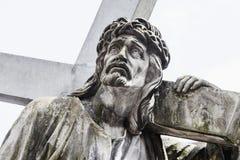 Fragment de statue antique Jesus Christ comme symbole de l'amour, fai Photos libres de droits