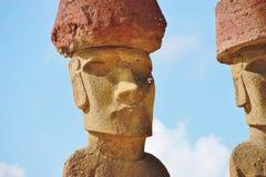 Fragment de statue de Moai Image libre de droits