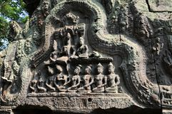 Fragment de temple de Ta Prohm Photos libres de droits