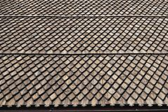 Fragment de toit en bois photos stock