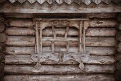 Fragment de vieille Chambre en bois toned photos stock