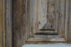 Fragment de vieille porte Image stock
