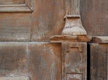 Fragment de vieille porte en bois Image stock
