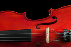 Fragment de violon Photo stock