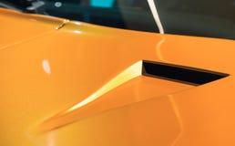 Fragment de voiture de sport, système d'entrée d'air Photos libres de droits