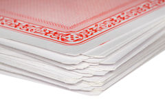Fragment of deck of playing cards Royalty Free Stock Photos