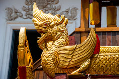 A fragment of decor of a Buddhist temple. Thailand Temple. Chiangmai. Royalty Free Stock Image