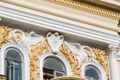 Fragment of decor of Chernoyarovsky Passage - Profitable House of Merchant Chernoyarov in Kazan, Russia Royalty Free Stock Image
