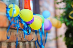 Fragment decor, children`s holiday decorations, birthday, holida Stock Photography
