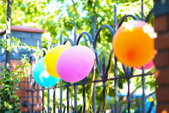Fragment decor, children`s holiday decorations, birthday, holida Stock Images