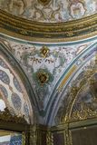 Fragment of the decor of the hall of meetings of the Ottoman gov. ISTANBUL, TURKEY - SEPTEMBER 11, 2017: This is a gfragment of the decor of the hall of meetings royalty free stock images