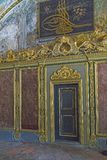 Fragment of the decor of the hall of meetings of the Ottoman gov. ISTANBUL, TURKEY - SEPTEMBER 11, 2017: This is the tugra of the eastern ruler and the door to royalty free stock photography