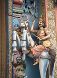 A fragment of decoration of the ancient Hindu temple. Sri Lanka Stock Images