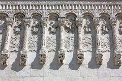 Fragment of decoration Demetrius Cathedral Royalty Free Stock Photography