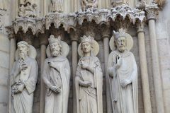 Fragment of decoration of Notre Dame de Paris Royalty Free Stock Image