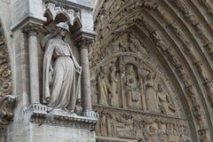 Fragment of decoration of Notre Dame de Paris Royalty Free Stock Photos