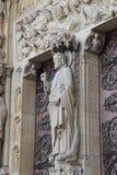Fragment of decoration of Notre Dame de Paris Stock Photo
