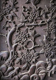 Fragment of decorative carving on wood Royalty Free Stock Photos