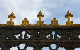 Fragment of a decorative fencing Stock Photo