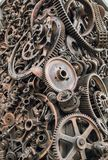 Decorative metal elements close-up royalty free stock images