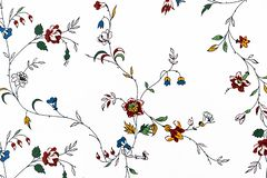 Fragment of a decorative panel with a floral ornament for design and decoration stock photography