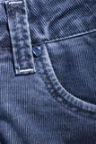 A fragment of denim corduroy trousers Stock Photo