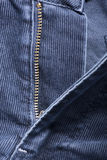 A fragment of denim corduroy trousers Royalty Free Stock Photography