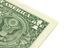 A fragment of a denomination in one American dollar Royalty Free Stock Photo