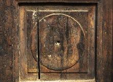 Fragment der alten Holztür Brown Stockfotos
