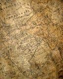 Fragment der alten Karte Stockbild