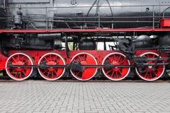Fragment der alten Lokomotive stockfoto