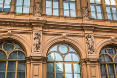 Fragment der Art Nouveau-Architekturart von Riga-Stadt, Lettland Lizenzfreie Stockfotos