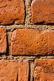 Fragment der Backsteinmauer Stockbild