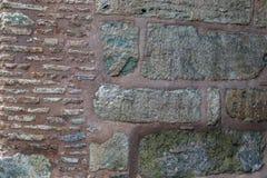 Fragment der byzantinischen Maurerarbeit der Wände des Hagia Soph lizenzfreies stockfoto