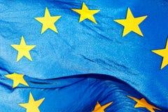 Fragment der Flagge der Europäischen Gemeinschaft Stockfoto