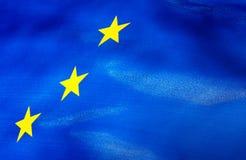 Fragment der Flagge der Europäischen Gemeinschaft Stockbild
