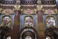 Fragment der Innenausstattung der Kirche von unserer Dame Lizenzfreie Stockfotos